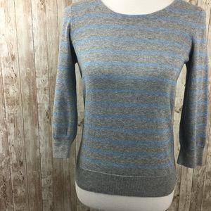 A.P.C Gray Blue Stripe Knit Top Size XS